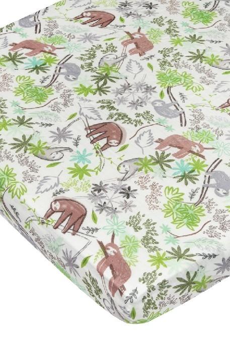 Loulou Lollipop - Drap de lit de bébé- Sloth