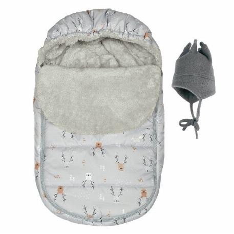 Couvre-siège de voiture Hiver - Cerfs gris