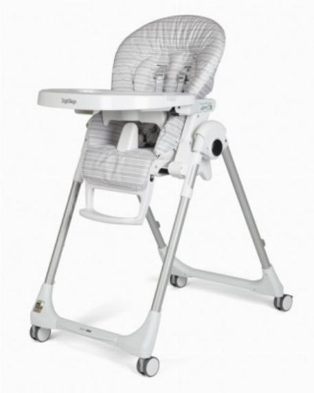 Chaise haute Prima Pappa Zero 3 -  Linear Grey | Peg Perego