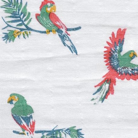 Sac de nuit en mousseline de coton 0-6M, Perroquets - Perlimpinpin