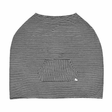 Poncho d'Allaitement - Rayure Noir