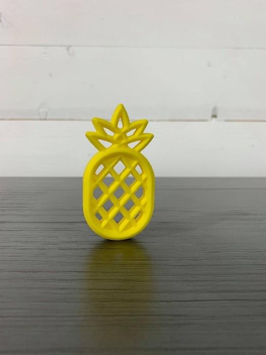 Jouet de dentition en silicone - Ananas jaune