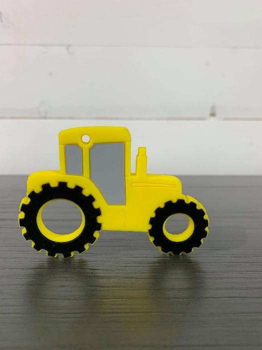 Jouet de dentition en silicone - Tracteur jaune