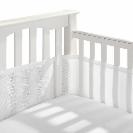 Tour de lit de bébé en fliet Breathable - Blanc