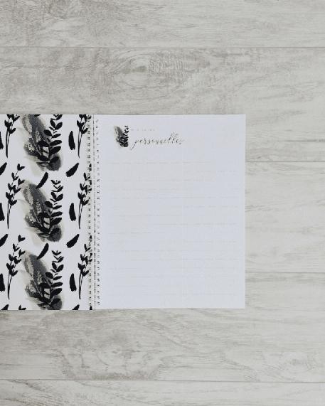 Mon journal de grossesse - Gold et feuilles noires