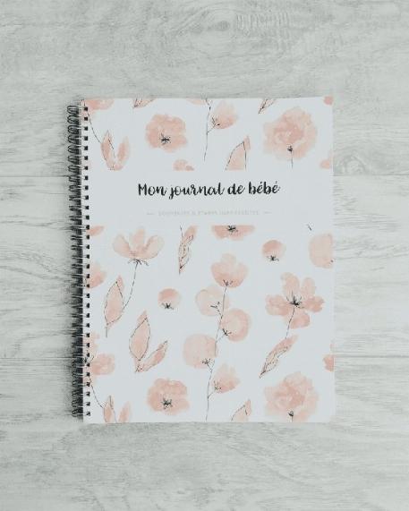 Mon journal de bébé - Fleurs corails