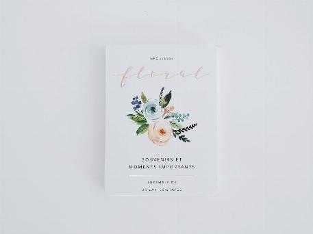 Cartes étapes Ma grossesse - Floral