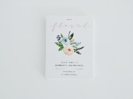 Cartes étapes Bébé - Floral