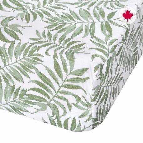 Draps couchette - Feuillage vert