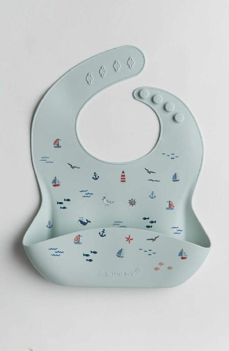 Bavoir en silicone - Set sail   Loulou Lollipop