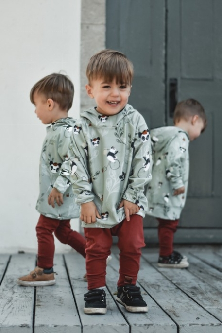 Hoodie évolutif - Pandas | Nine Clothing