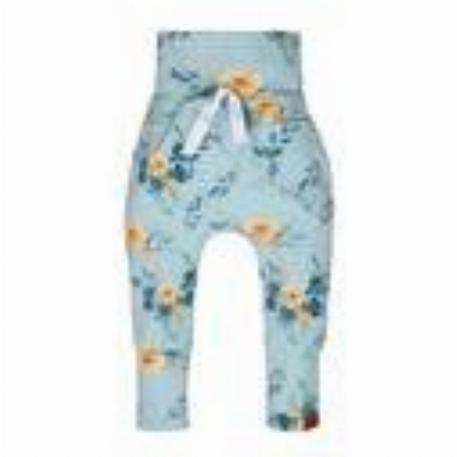 Nine - Pantalon évolutif Fleurs bleues