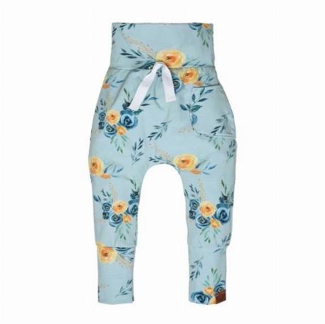 Pantalon évolutif Fleurs bleues