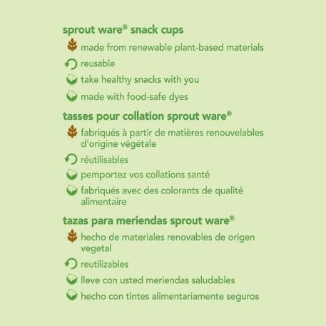 Bols à collation biodégradables | Green Sprouts