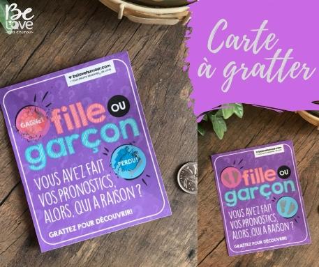 Be Love - Cartes à gratter Fille ou Garçon? - Fille