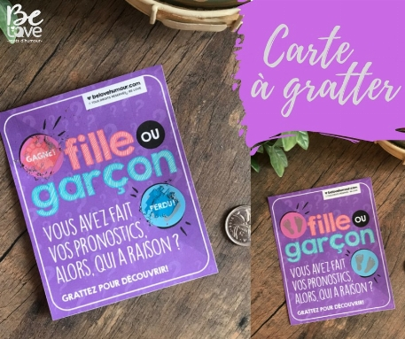 Be Love - Carte à gratter Fille ou Garçon? - Garçon
