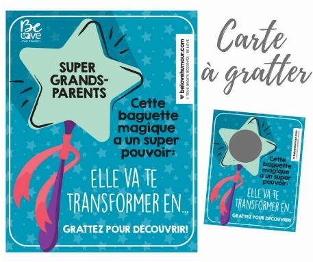 "Be Love - Carte à gratter ""Super Grands-parents"""