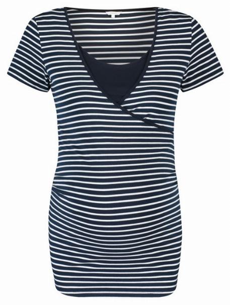 T-Shirt grossesse et allaitement, Bleu nuit - Noppies