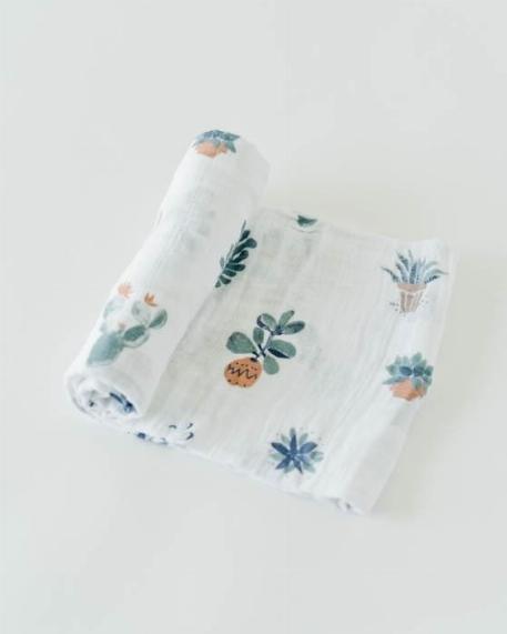 Mousseline de coton, cactus - Little Unicorn