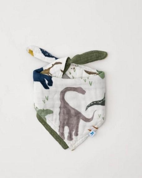 Bavoir bandana réversible, Dinosaures - Little Unicorn