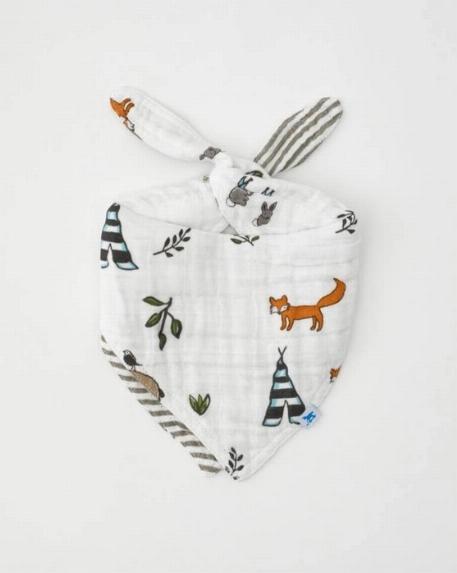 Bavoir bandana réversible, Amis de la forêt - Little Unicorn