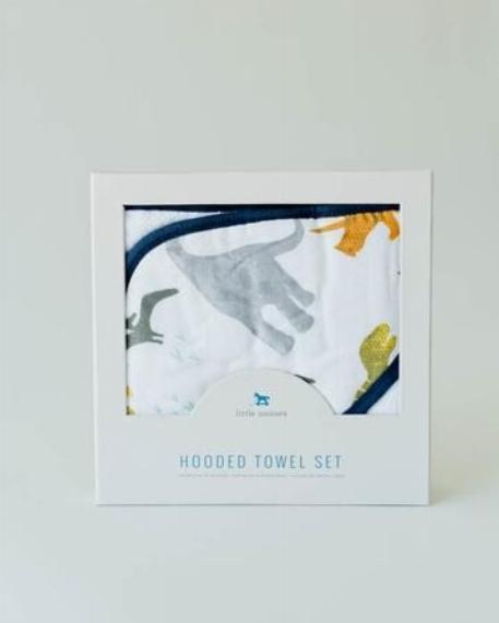 Sortie de bain & Gant de toilette, Dinosaures - Little Unicorn
