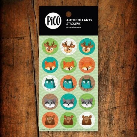 Pico- autocollants- Les animaux de la forêt