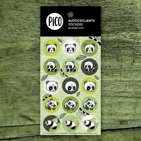 Pico- autocollants- Les pandas sympas