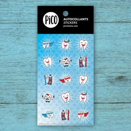 Pico- autocollants-Brosse tes dents