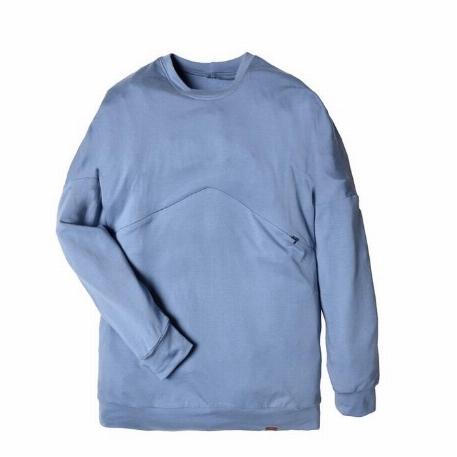 Chandail boyfriend pour femme, grossesse et allaitement - Bleu | Nine Clothing
