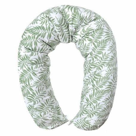 Oreiller de grossesse multifonction - Vert tropical | Perlimpinpin
