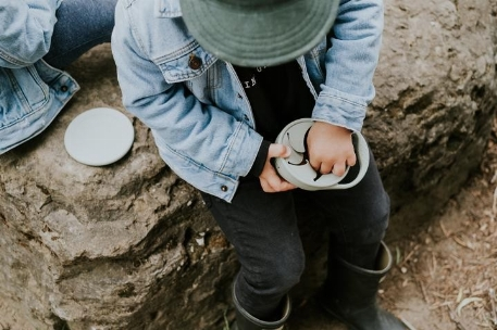 Bol à collation avec couvercle - Natural | Minika