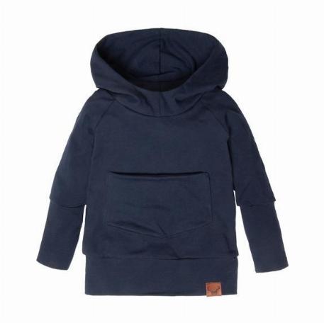 Hoodie évolutif - Bleu marin | Nine Clothing