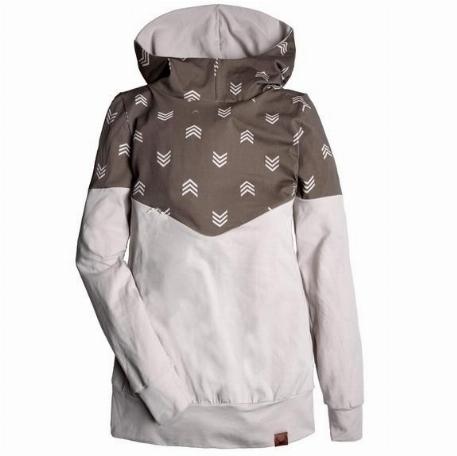 Hoodie pour femme, grossesse et allaitement - Chevrons | Nine Clothing