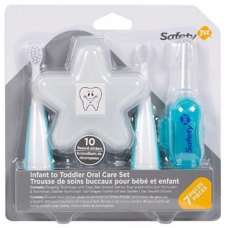 Trousse de soins buccaux pour bébé et enfants, Bleu artique - Safety 1st
