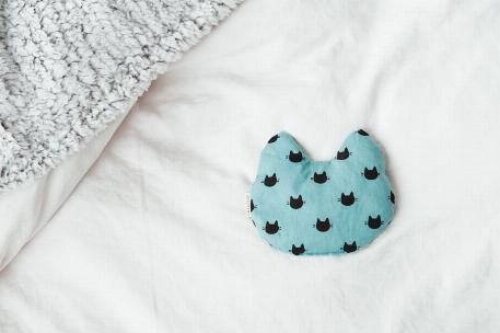Coussin réconfort Chat - Turquoise   Amma Thérapie
