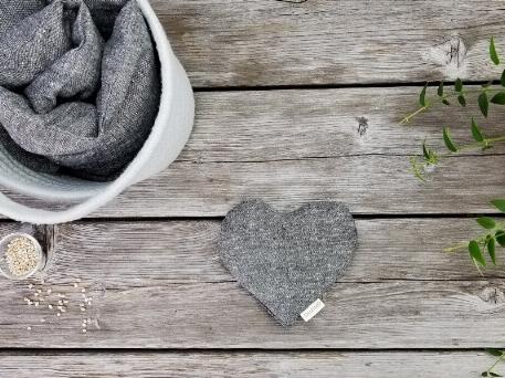 Coussin réconfort Coeur - Gris   Amma Thérapie