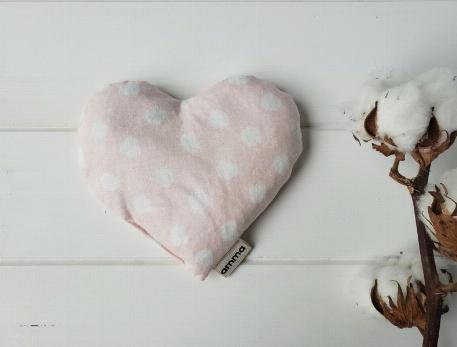 Coussin réconfort Coeur - Picoté rose   Amma Thérapie