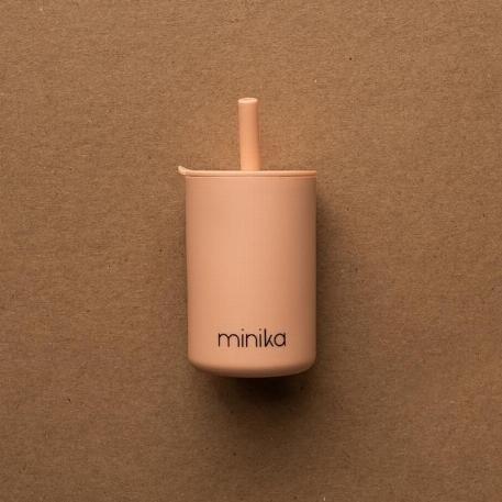 Verre à paille et couvercle - Blush | Minika