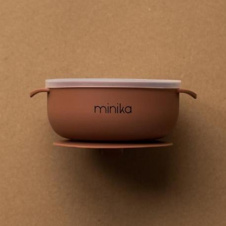 Bol avec couvercle - Cacao | Minika
