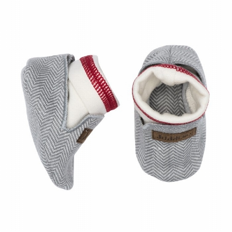 Juddlies - Chaussons organiques Cottage Driftwood Grey -  0-3M