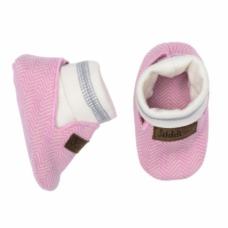 Juddlies - Chaussons organiques Cottage Sunset Pink - 0-3M