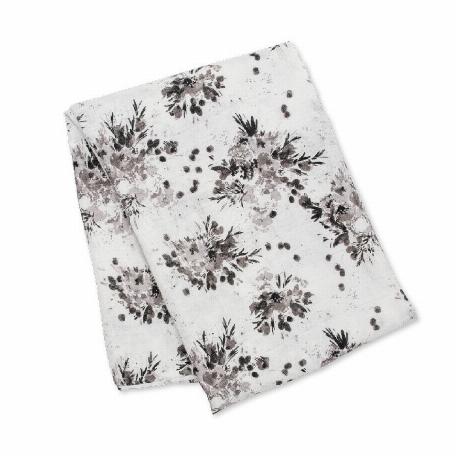 Lulujo - Couverture et bonnet - Black Floral