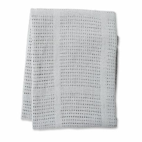 Lulujo - Couverture en coton tricotée - Gris