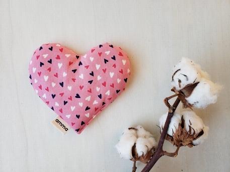 Amma T.- Coussin réconfort Coeur pour bébé-Ma chérie