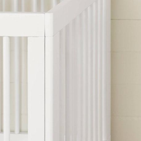 South Shore-Lit de bébé - hauteur ajustable, Blanc solide, Balka