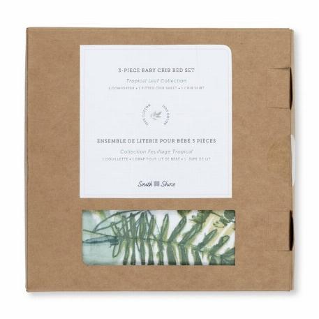 Ensemble de literie pour bébé 3 pièces, Feuillage tropical - South Shore